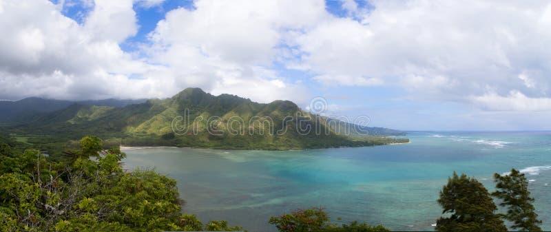 Панорамный взгляд пункта Aluapuleho, Гаваи стоковые изображения
