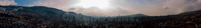 Панорамный взгляд Сараева стоковые изображения