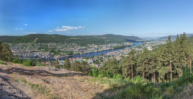 Панорамный взгляд Drammen стоковые фотографии rf