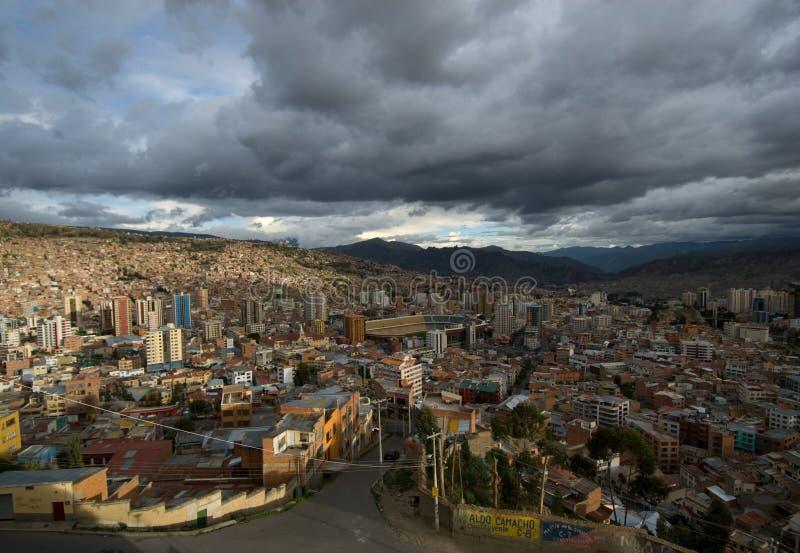 Панорамный взгляд La Paz Стоковые Изображения RF