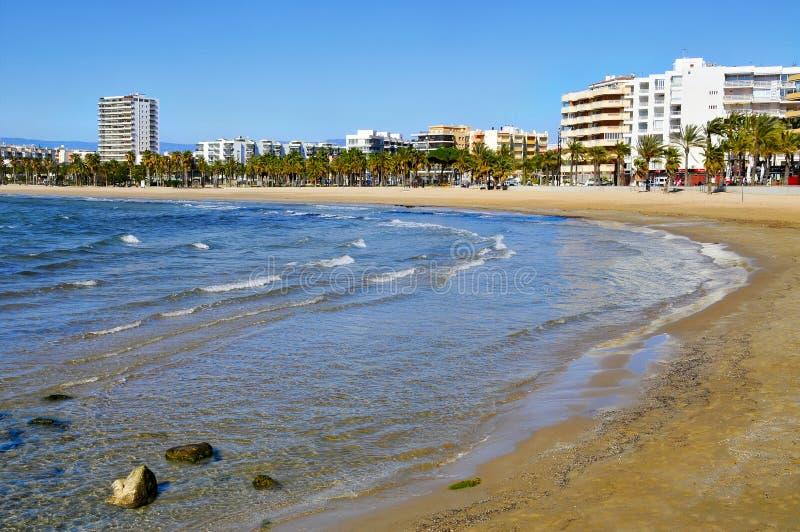панорамный взгляд salou Испании стоковые изображения rf