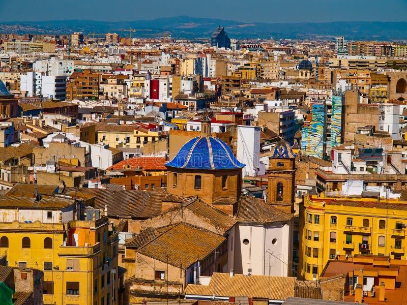 панорамный взгляд valencia стоковые изображения