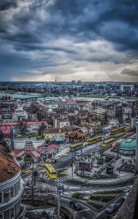 Панорамный взгляд Белграда стоковая фотография rf
