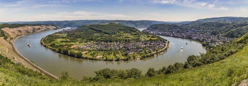 Панорамный взгляд большой петли Рейна стоковые изображения rf