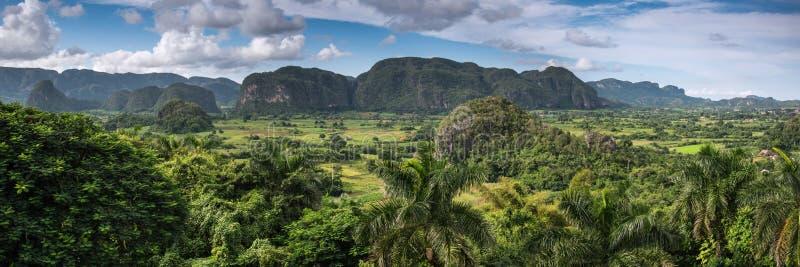 Панорамный взгляд в долине Vinales, Кубе стоковые фотографии rf