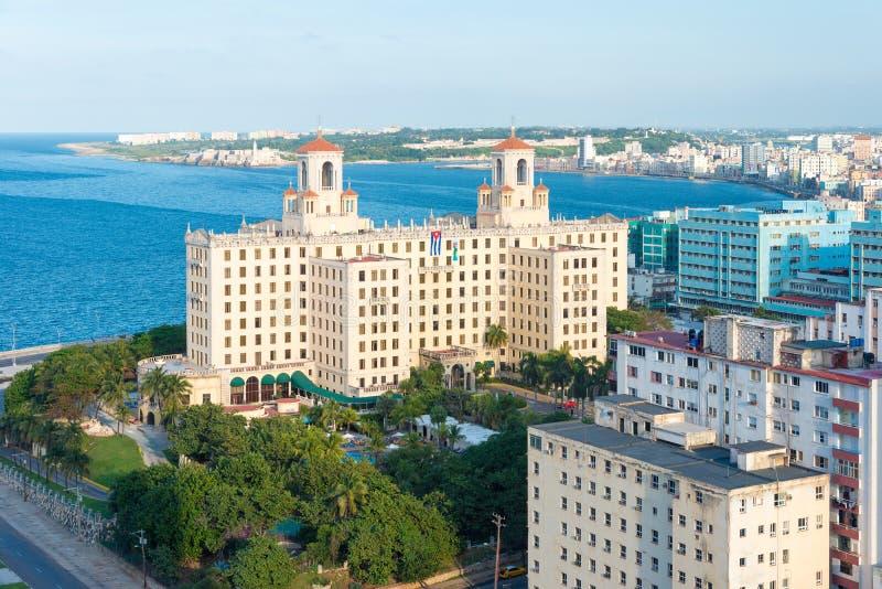 Панорамный взгляд Гаваны с целью горизонта города стоковые фото