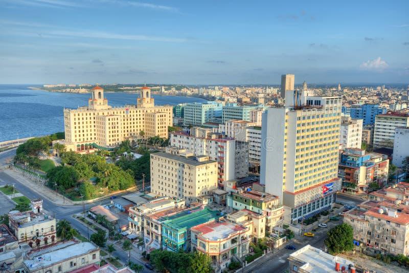 Панорамный взгляд Гаваны с целью горизонта города стоковое изображение