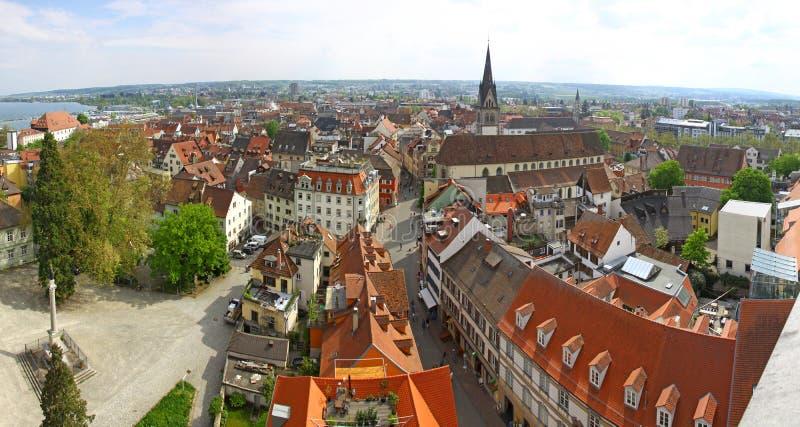 Панорамный взгляд города Констанца (Германия) стоковая фотография rf