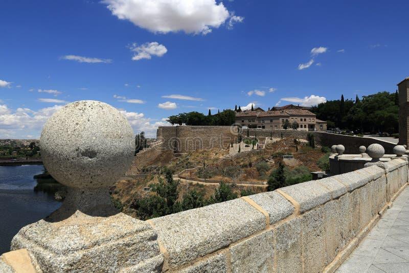 Панорамный взгляд города Toledo, Испании стоковые изображения rf