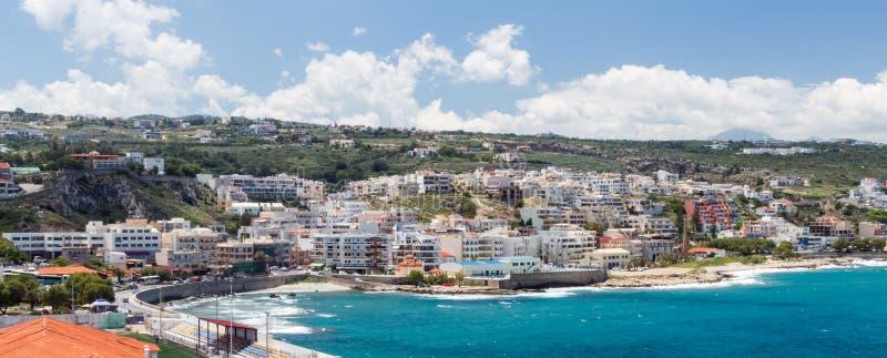 Панорамный взгляд городка Rethymno стоковая фотография rf