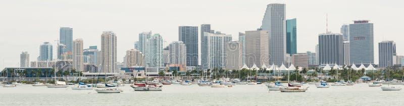 Панорамный взгляд городского Майами стоковые фотографии rf