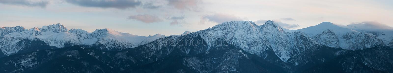 Панорамный взгляд горы Tatra стоковые фотографии rf