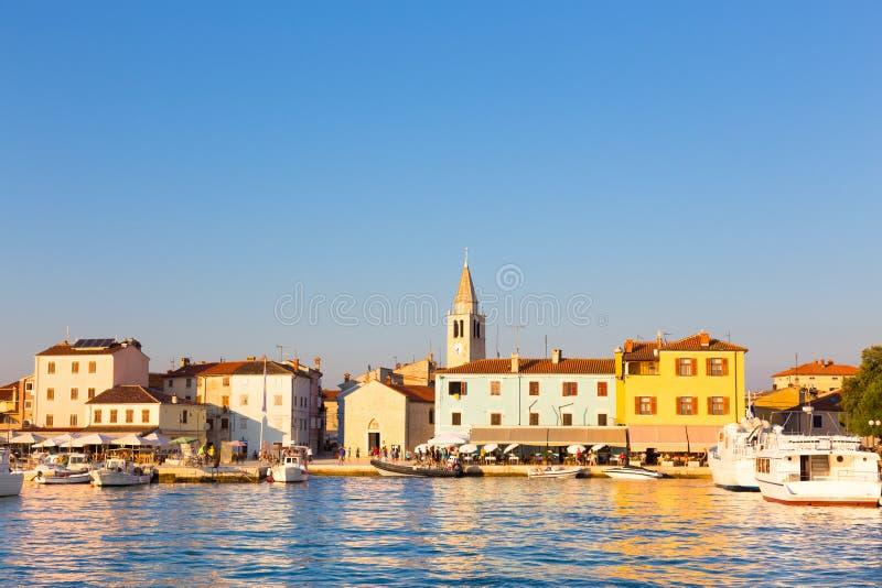 Панорамный взгляд деревни Fazana, Хорватии стоковая фотография rf