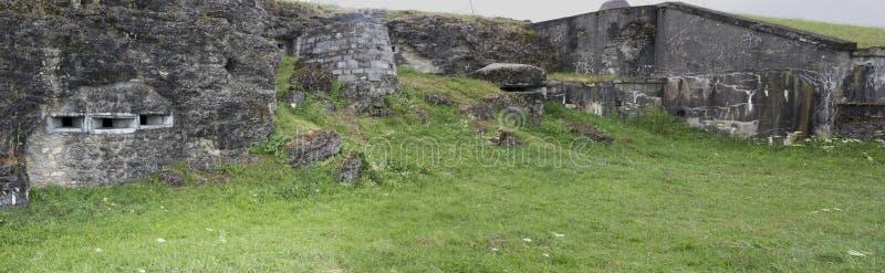 Панорамный взгляд задней стороны форта Douaumont стоковое изображение rf
