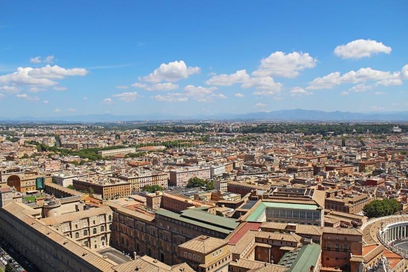 Панорамный взгляд исторического центра Рима Италия стоковые изображения