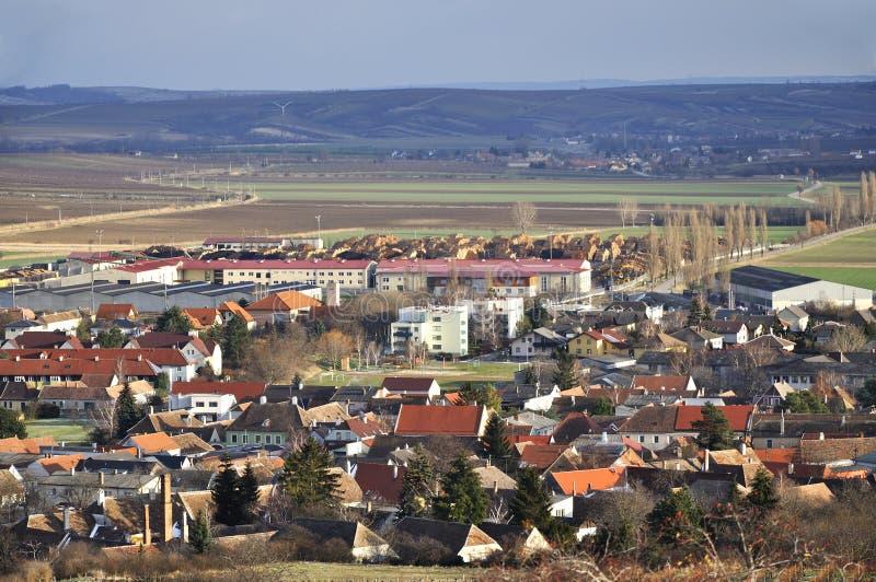 Панорамный взгляд исторической части Retz стоковая фотография