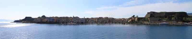 Панорамный взгляд Корфу стоковые изображения rf