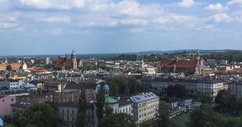 Панорамный взгляд Кракова стоковое изображение rf