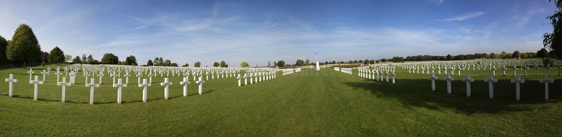 Панорамный взгляд кладбища Souain стоковые фото