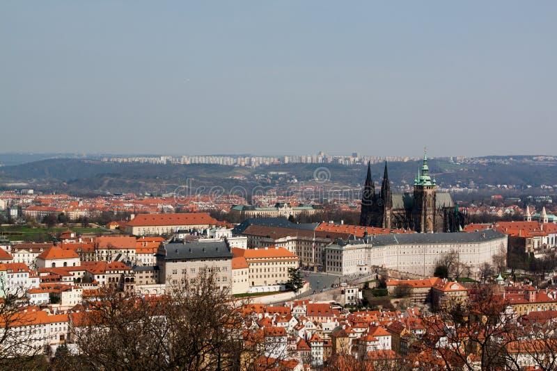 Панорамный взгляд к Праге стоковое фото
