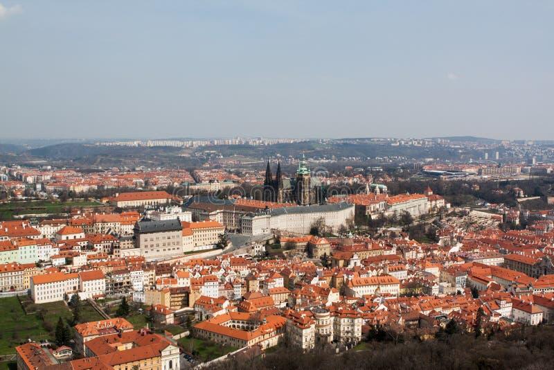 Панорамный взгляд к Праге стоковое фото rf