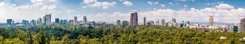 Панорамный взгляд Мехико - Мексики стоковые изображения