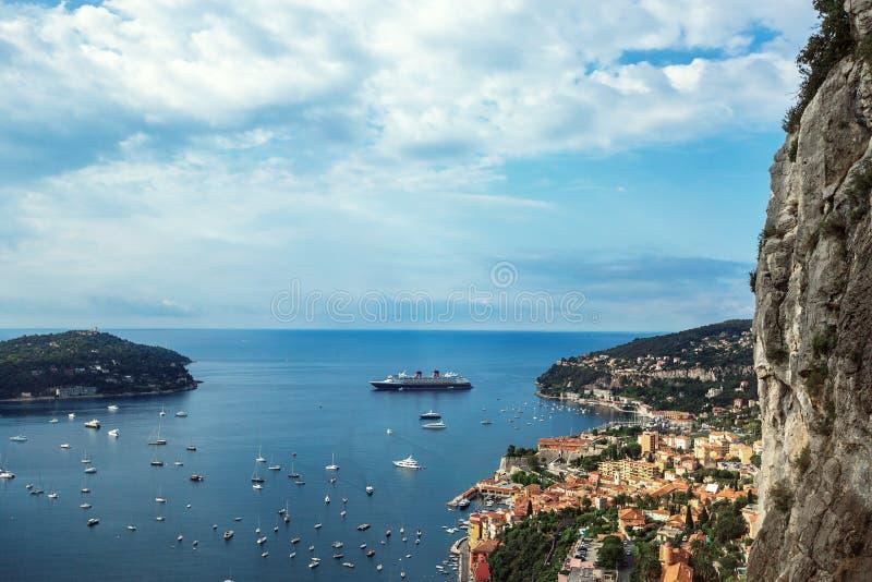 Панорамный взгляд Монте-Карло, Монако, Cote d'Azur, Европы стоковая фотография rf