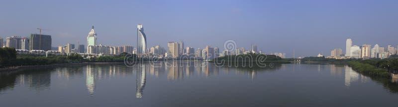 Панорамный взгляд озера yuandang стоковые фото