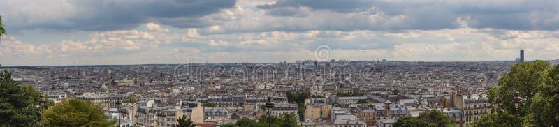 Панорамный взгляд Париж стоковые фотографии rf