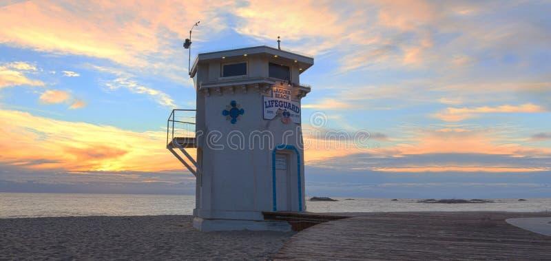 Панорамный взгляд променада на главном пляже стоковая фотография