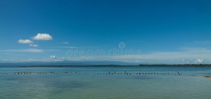 Панорамный взгляд пляжа toro del Boca стоковое изображение