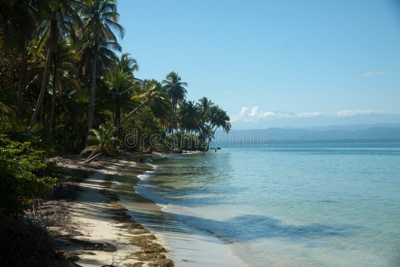 Панорамный взгляд пляжа toro del Boca стоковые фото