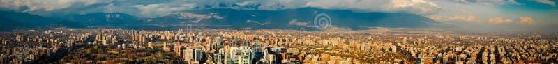 Панорамный взгляд Сантьяго стоковые изображения rf