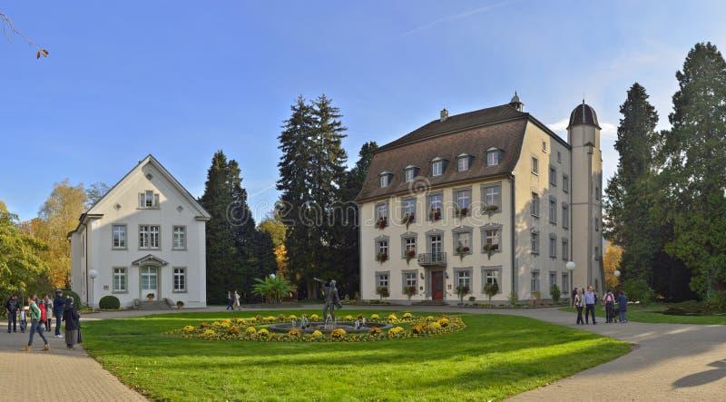 Панорамный взгляд с старой гостиницой от города Stein стоковые изображения rf