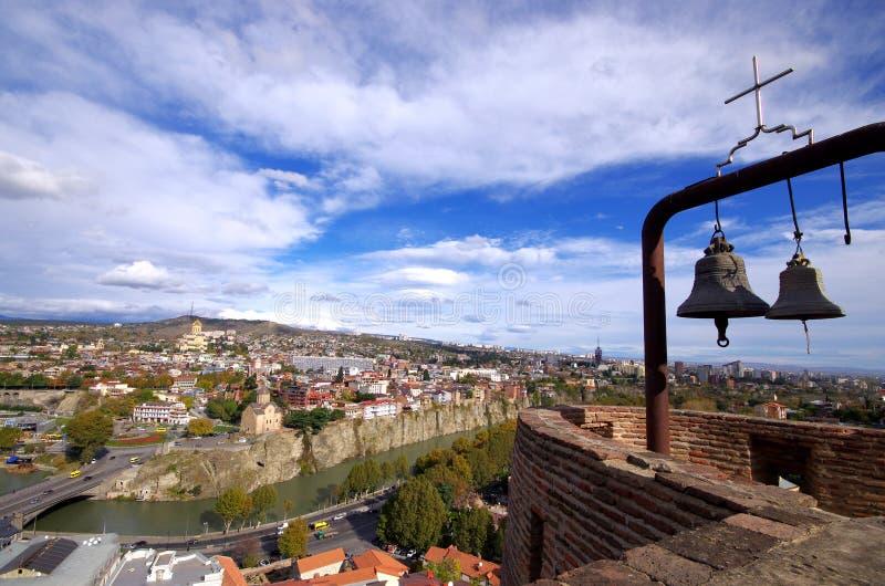 Панорамный взгляд Тбилиси, Georgia стоковые изображения