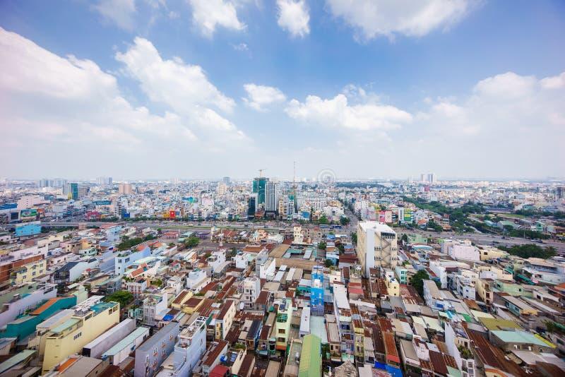 Панорамный взгляд Хошимина, Вьетнама стоковая фотография