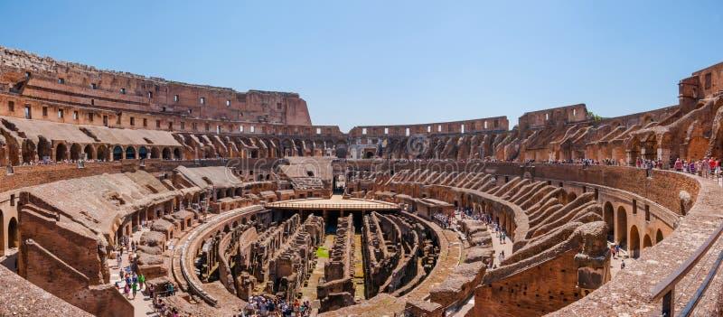 Панорамный взгляд Colosseum стоковое фото