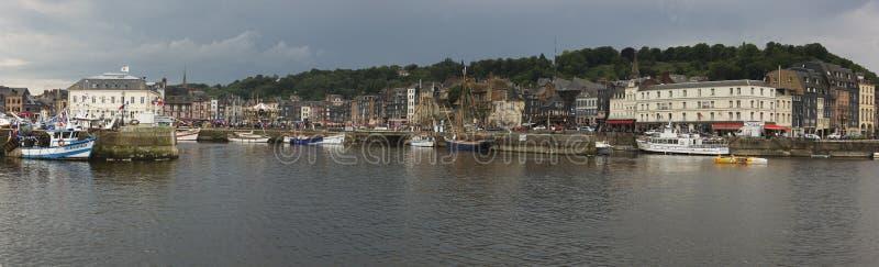 Панорамный взгляд Honfleur стоковое изображение