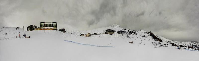 Панорамный взгляд Kleine Scheidegg Швейцария альп стоковое изображение