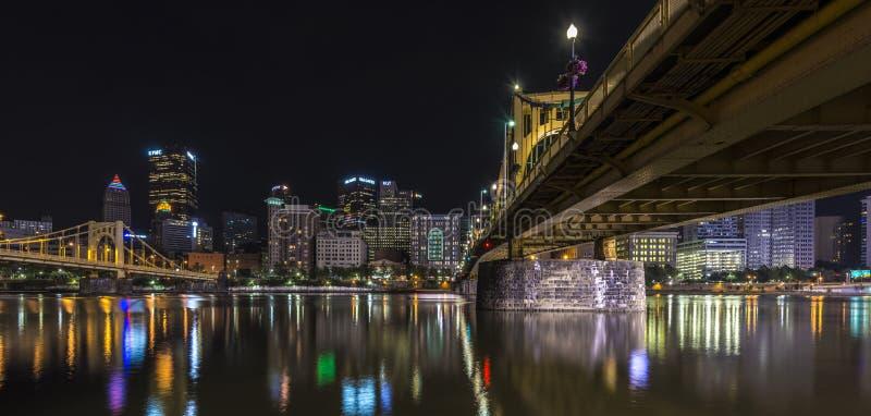 Панорамный взгляд pf Питтсбург США стоковое изображение