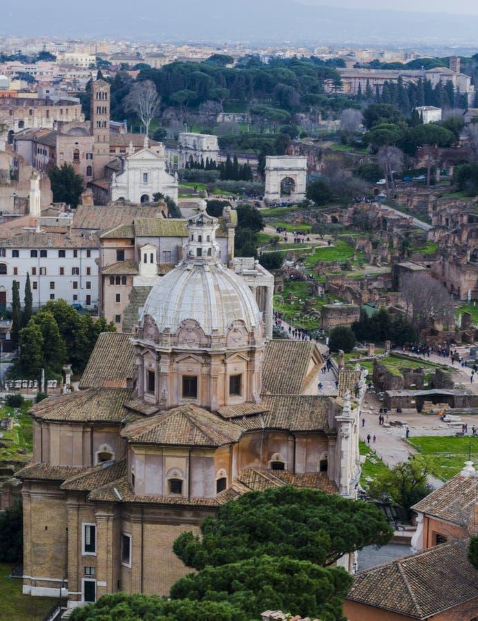 панорамный взгляд rome стоковое фото rf