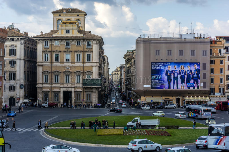 панорамный взгляд rome стоковая фотография