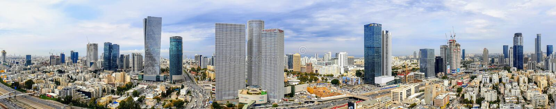 Панорамный вид горизонта Тель-Авив стоковые фотографии rf