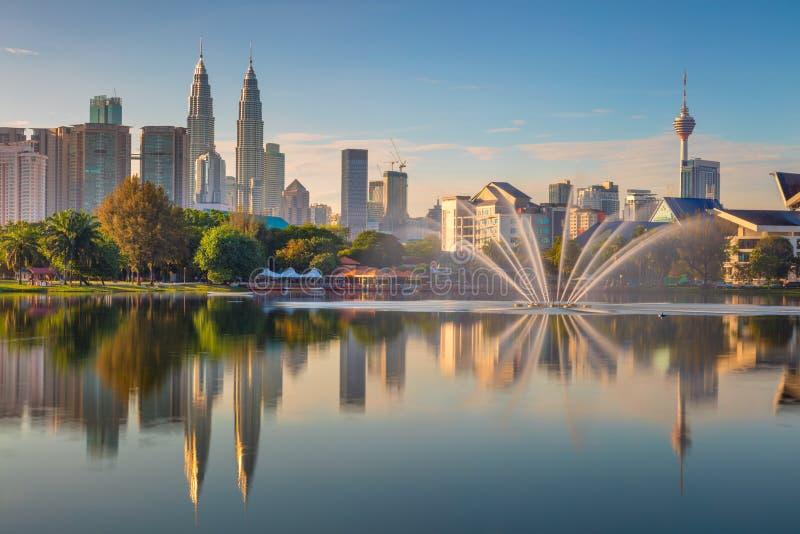 Панорамный вид города Куалаа-Лумпур, Малайзии стоковые изображения