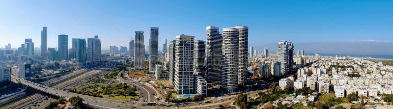 Панорамный вид города Тель-Авив стоковое фото rf