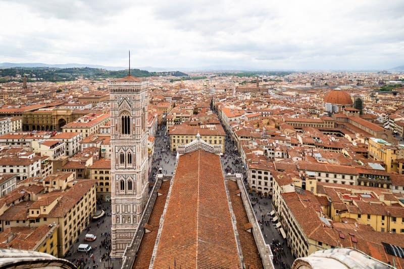 Панорамный вид города Флоренции - firenze в области Тосканы, Италии к день стоковое фото