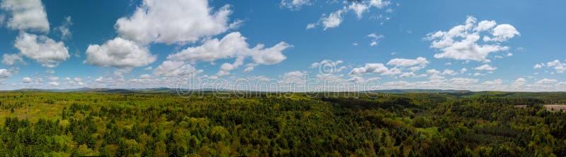 Панорамный вид красивых гор Pocono ландшафта стоковая фотография rf