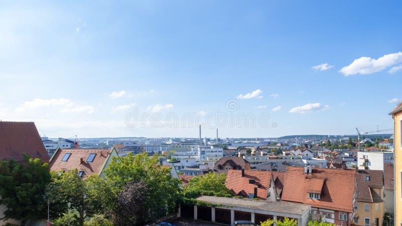 панорамный вид к boeblingen Sindelfingen Германии стоковые фото