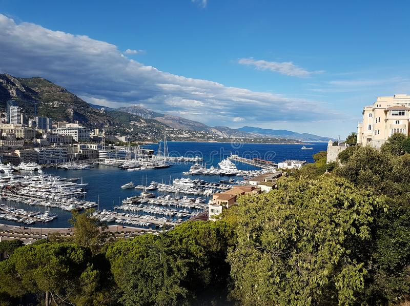 Панорамный вид Монако, Европы стоковая фотография
