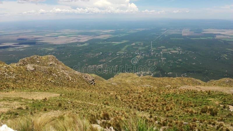 Панорамный вид Merlo, San Luis Аргентины стоковые изображения rf